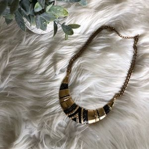 Chunky Necklace - Gold and Black